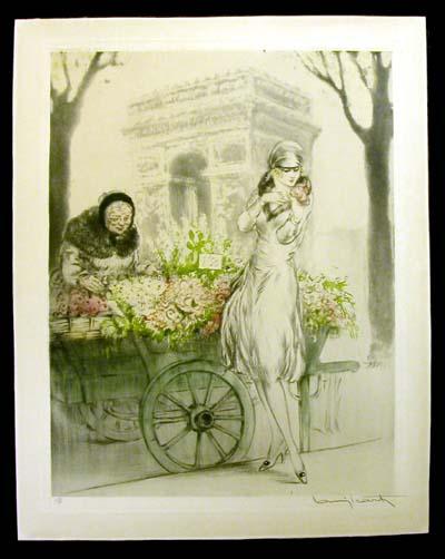 Louis Icart Flower Seller