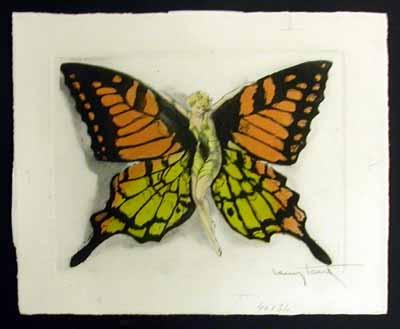 Louis Icart Fluttering Butterfly