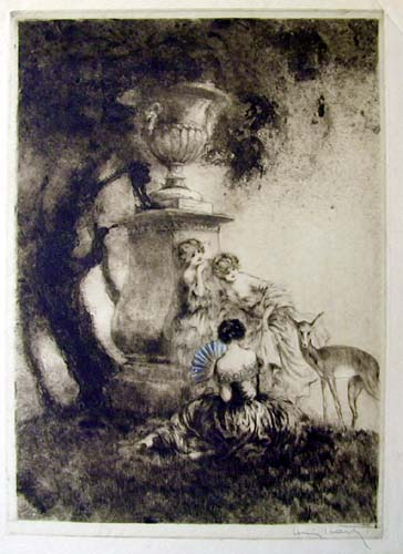 Louis Icart Four Dears Artist Proof
