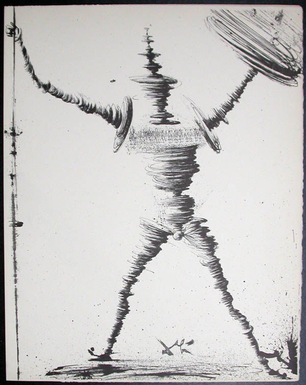 Salvador Dali - Don Quichotte de la Mancha, Book A - 1957 - Don Quichotte - #1