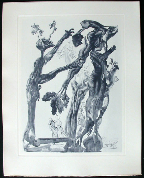 Salvador Dali - Divine Comedy Complete Books - The Wood and the Suicide