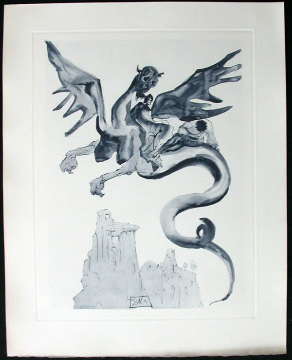 Salvador Dali - Divine Comedy Complete Books - On Geryon's Back