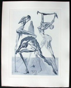Salvador Dali - Divine Comedy Complete Books - The Sodomites