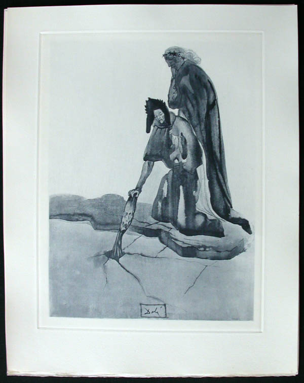 Salvador Dali - Divine Comedy Complete Books - The Traitor of Montaperti
