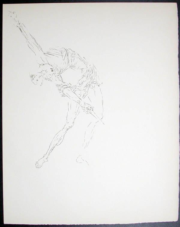 Salvador Dali - Don Quichotte de la Mancha, Book A - 1957 - Les Outres de vin The Wine Casks - #5