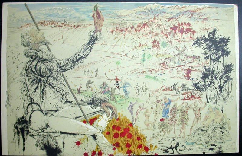 Salvador Dali - Don Quichotte de la Mancha, Book A - 1957 - L'age d'or The Golden Age