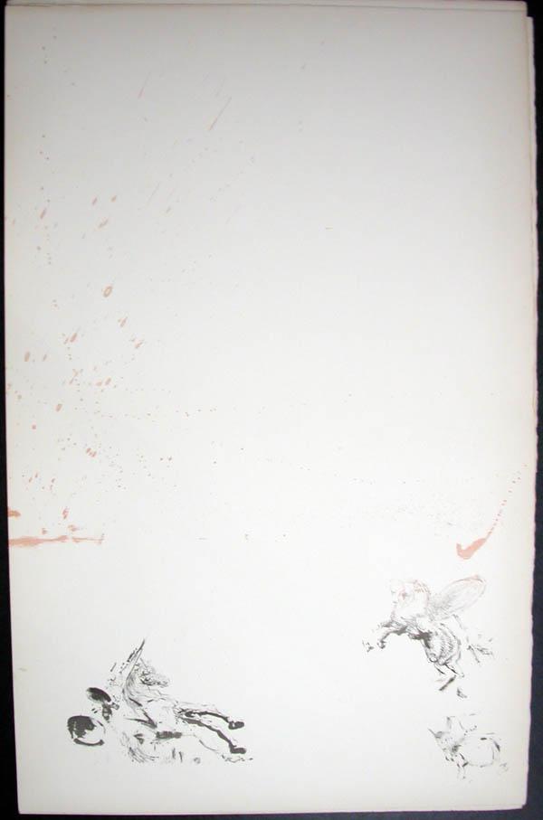 Salvador Dali - Don Quichotte de la Mancha, Book A - 1957 - Attaque des moulins Attack on the Windmills - #2