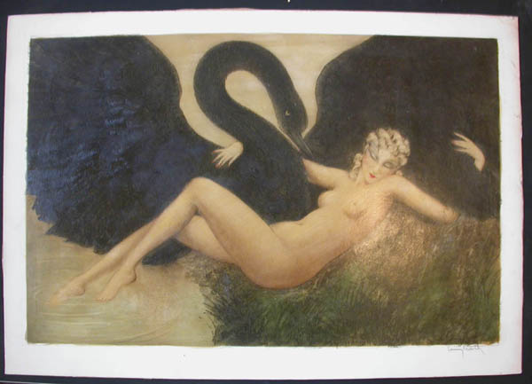 Louis Icart Leda and the Swan