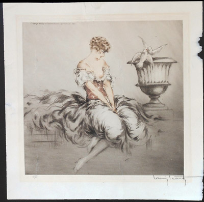 Louis Icart Lesson of Love