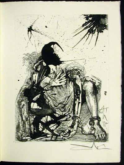 Salvador Dali - La Vida es Sueno, Life is a Dream - Sigismund in Chains