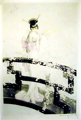 Louis Icart Madame Butterfly