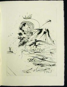 Salvador Dali - La Vida es Sueno, Life is a Dream - Study for a Dream