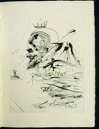 Salvador Dali - La Vida es Sueno, Life is a Dream - Study for a Dream