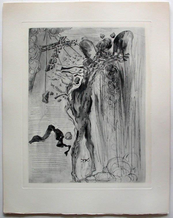 Salvador Dali - Divine Comedy Complete Books - The Apparition of Dante's Great-Great-Grandfather