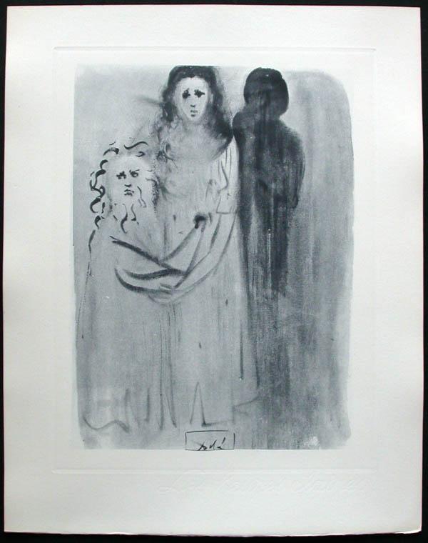 Salvador Dali - Divine Comedy Complete Books - The Neglectful MeetsViolent Death