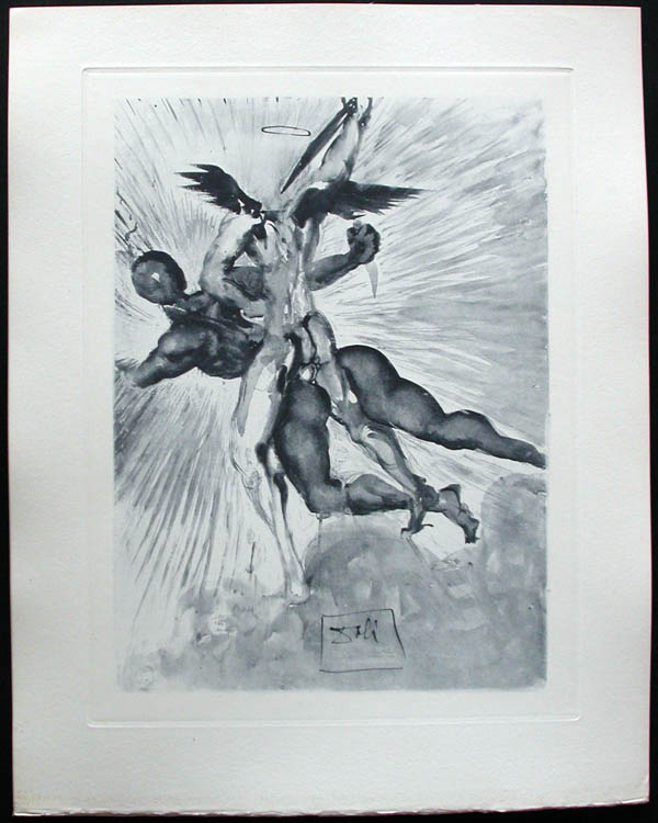 Salvador Dali - Divine Comedy Complete Books - The guardians ofthe valley of the Princes