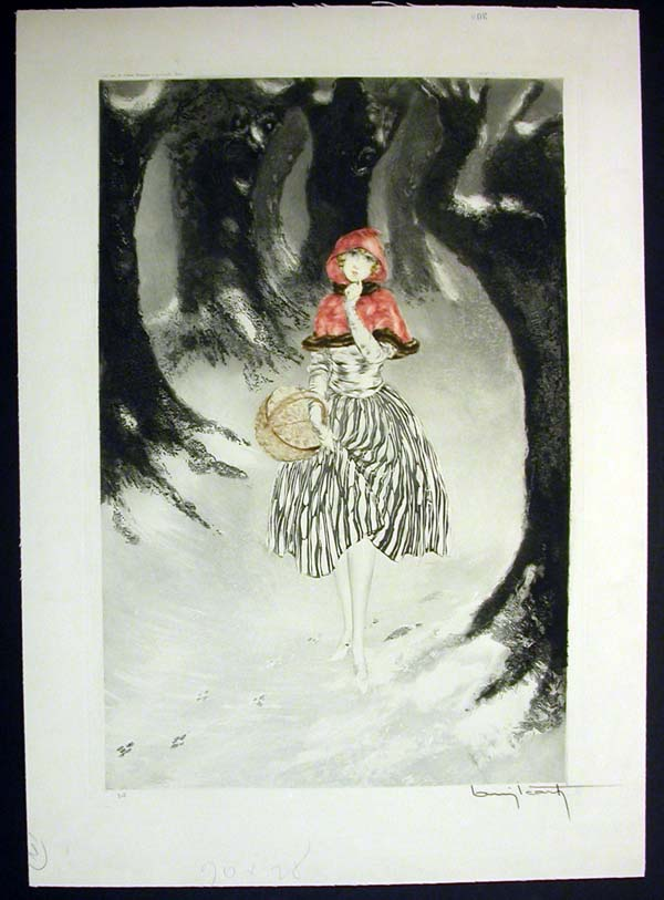 Louis Icart Red Riding Hood