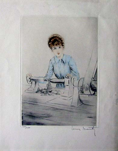 Louis Icart She Who Works