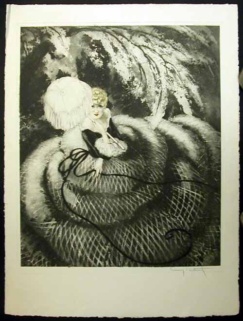 Louis Icart Southern Charm black & white