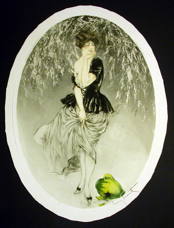 Louis Icart Spilled Jug of Milk