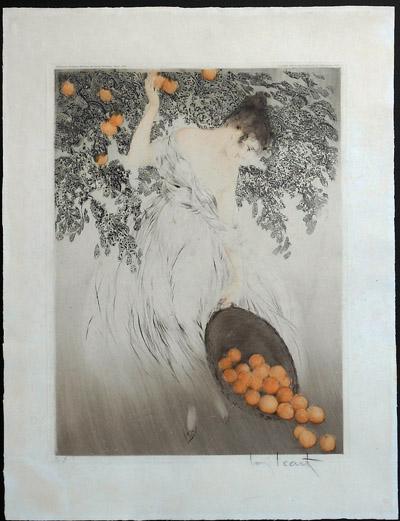 Louis Icart Spilled Oranges