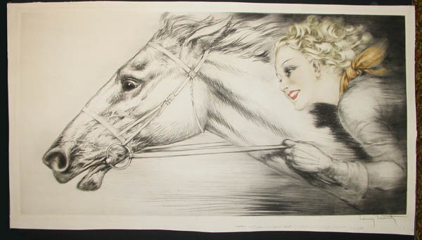 Louis Icart Thoroughbreds, etching