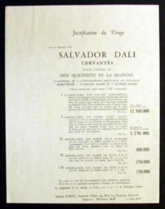Salvador Dali - Don Quichotte de la Mancha, Book A – 1957 - Title Page