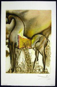 Salvador Dali - Les Chevaux de Dali - Trojan Horse