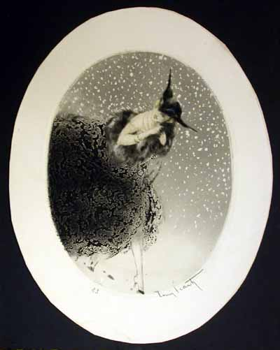 Louis Icart Winter Snowflakes