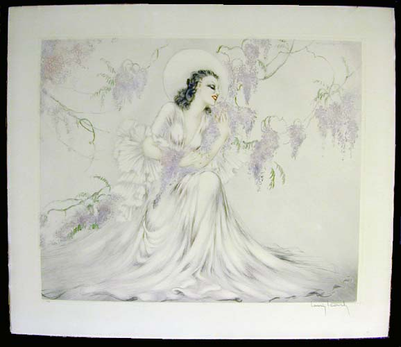 Louis Icart Wisteria