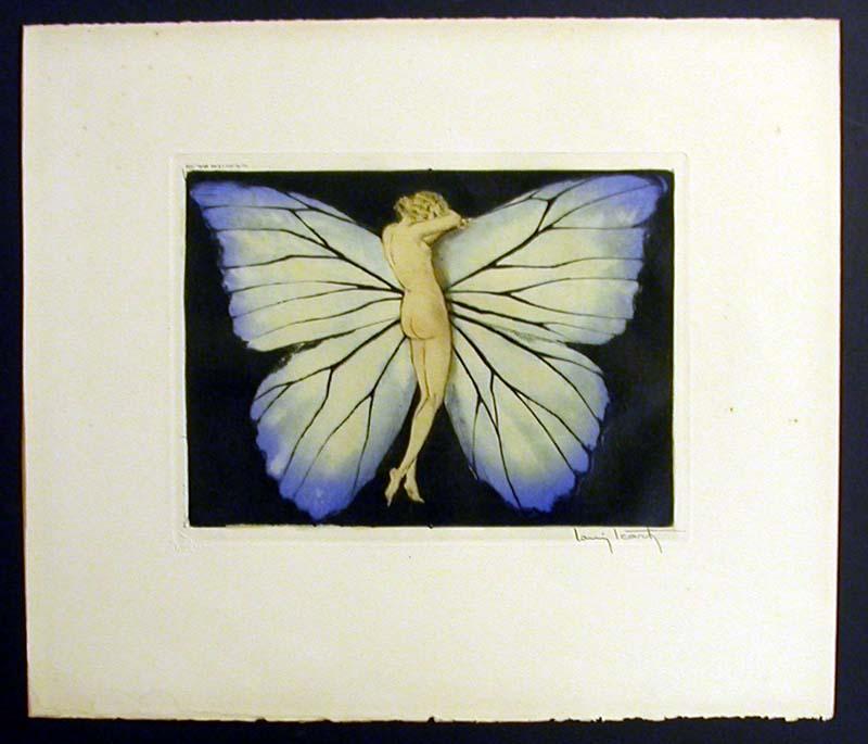 Louis Icart Woman in the Wings