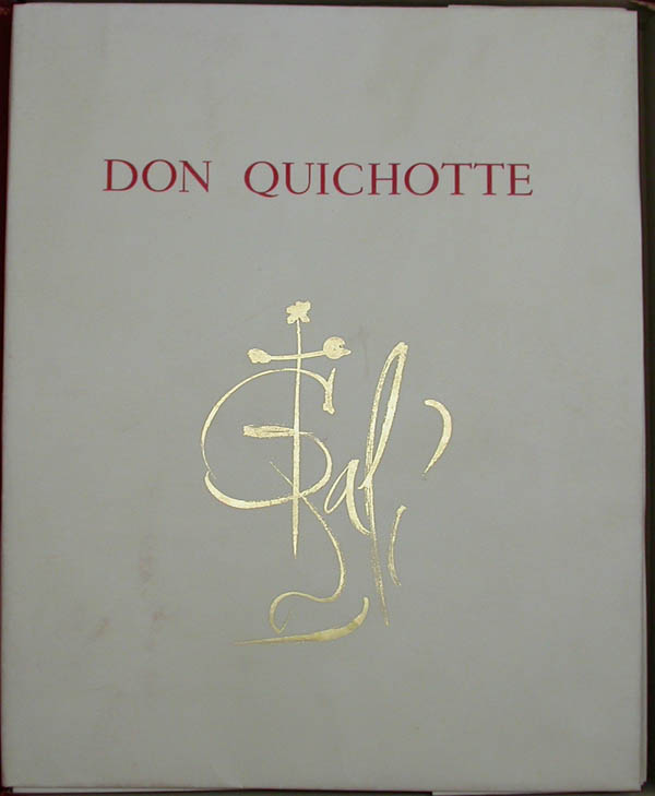 Salvador Dali - Don Quichotte de la Mancha, Book A - 1957 - Cover Page