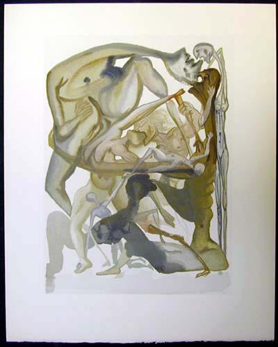 Salvador Dali - Divine Comedy - In Dark Limbo