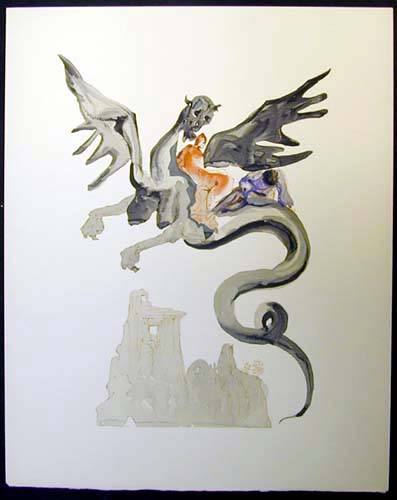 Salvador Dali - Divine Comedy - On Geryon's Back