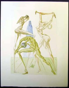 Salvador Dali - Divine Comedy - The Sodomites