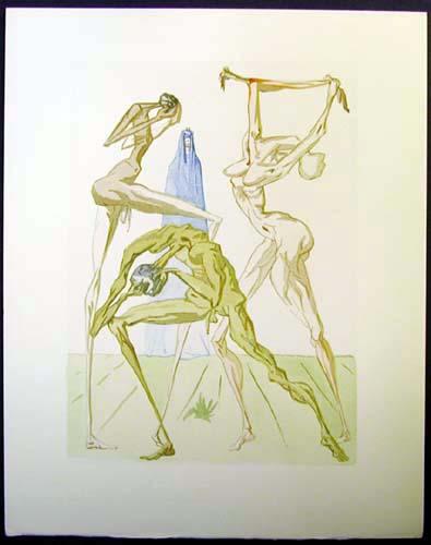 Salvador Dali - Divine Comedy - The Sodomites