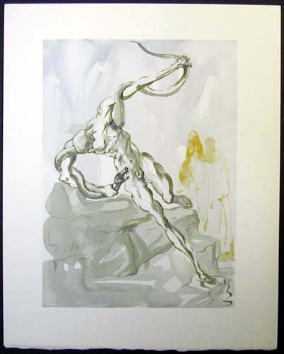 Salvador Dali - Divine Comedy - The Punishment of Vanni Fucci