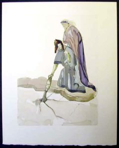 Salvador Dali - Divine Comedy - The Traitor of Montaperti