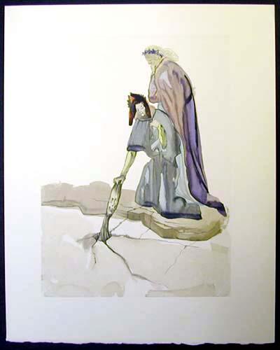 Salvador Dali - Divine Comedy - The Traitor of Montaperti