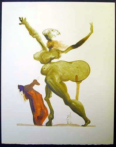 Salvador Dali - Divine Comedy - Manto
