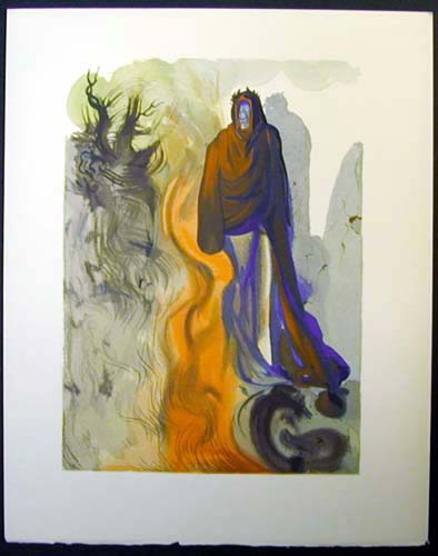 Salvador Dali - Divine Comedy - The Waterfall of the Phlegethon