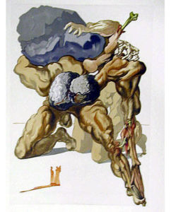 Salvador Dali - Divine Comedy - The Avaricious and the Prodigal