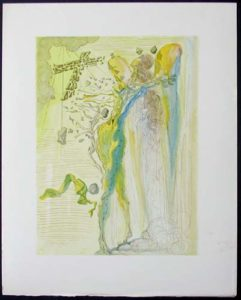 Salvador Dali - Divine Comedy - The Apparition of Dante's Great-Great-Grandfather