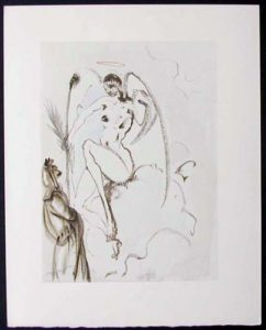 Salvador Dali - Divine Comedy - The Archangel Gabriel