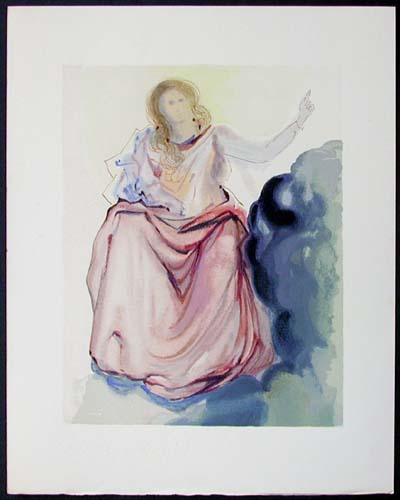 Salvador Dali - Divine Comedy - Beatrice resolves Dante's doubts