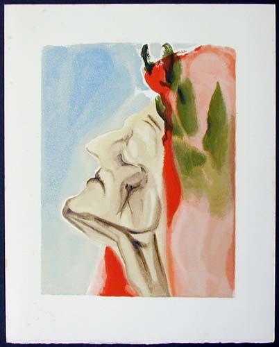 Salvador Dali - Divine Comedy - Dante in Doubt