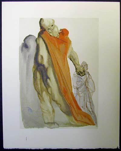Salvador Dali - Divine Comedy - Virgil's admonishment