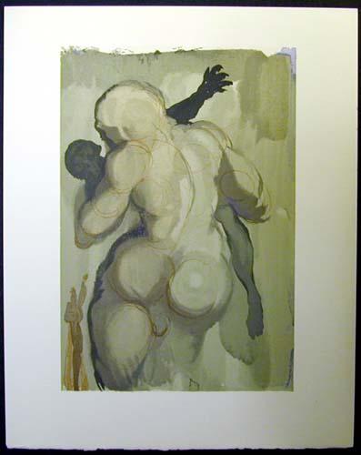 Salvador Dali - Divine Comedy - The Neglectful Meets Violent Death