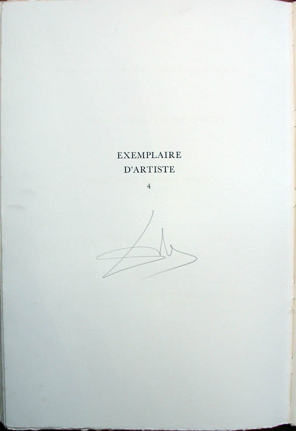 Salvador Dali - L'Art de Aimer - Ovide - Tirage Page
