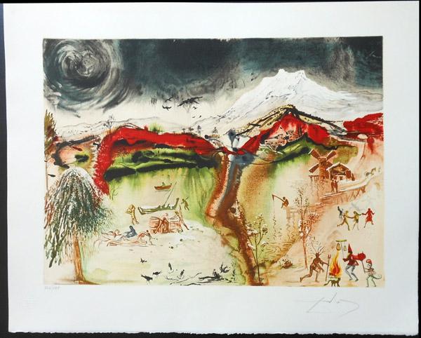 Salvador Dali - Four Seasons - Autumn